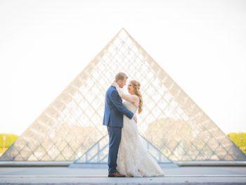 Vintage Travel Themed Paris Wedding