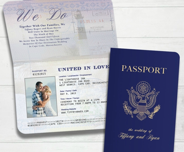 passport destination wedding invitation 1