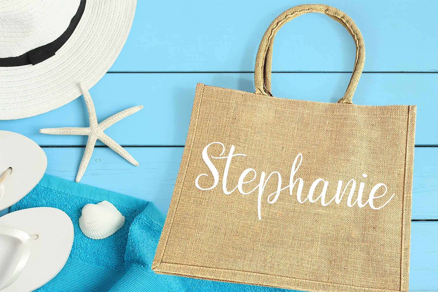 personalized burlap wedding welcome bag