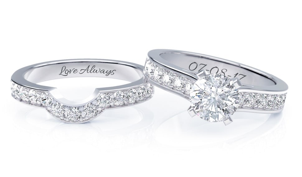 personalized wedding rings