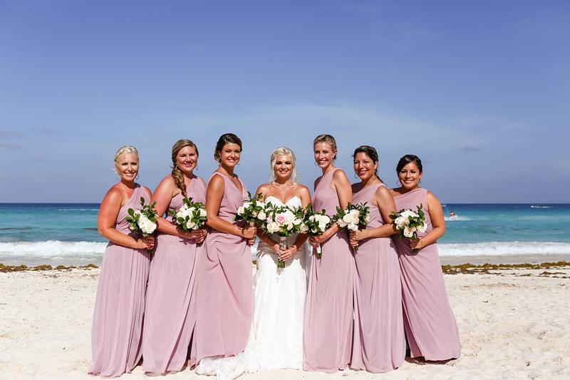 pink beach bridesmaid dresses2