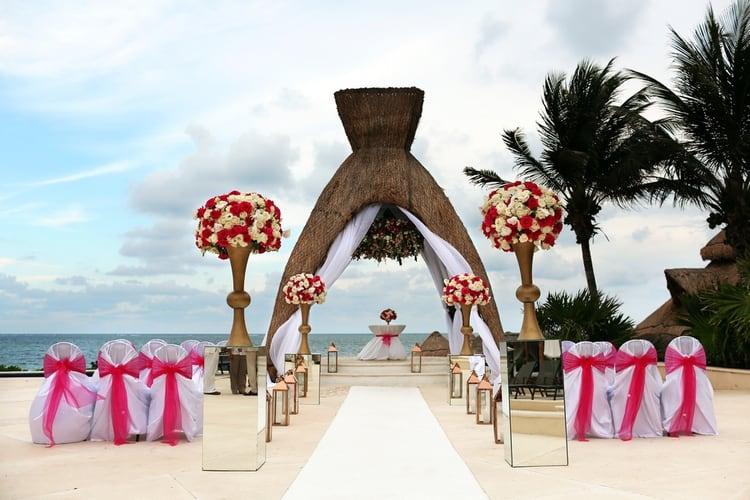 Pink Destination Wedding at Dreams Riviera Cancun