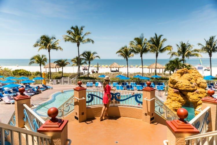 pink shell resort destination weddings pool
