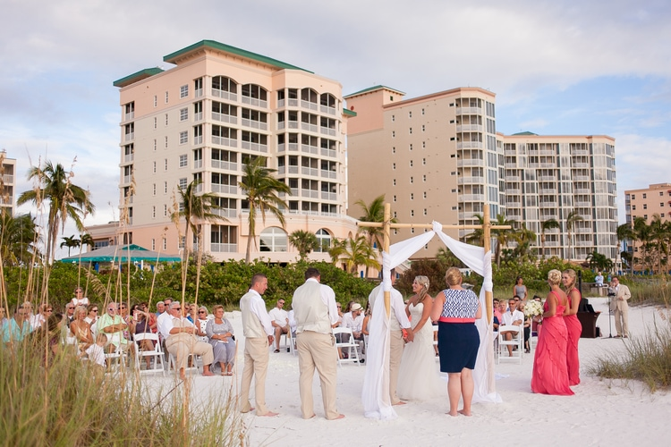 pink shell resort wedding 16