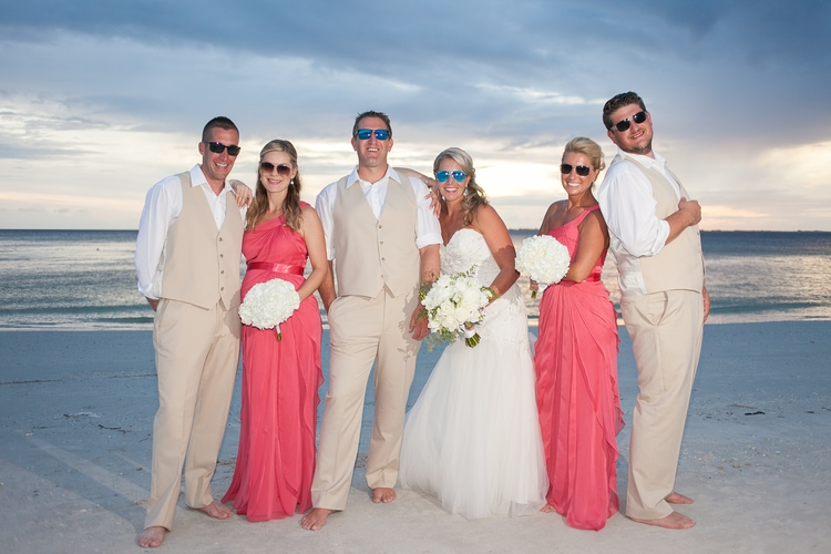 pink shell resort wedding 26