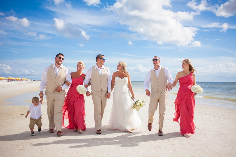 pink shell resort wedding 27