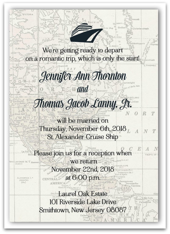 Post Destination Wedding Invitation Wording Example