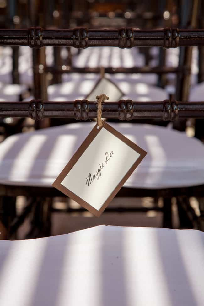 Puerto Vallarta Wedding seating cards