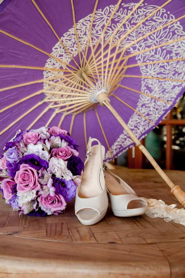 Purple and lavender destination wedding
