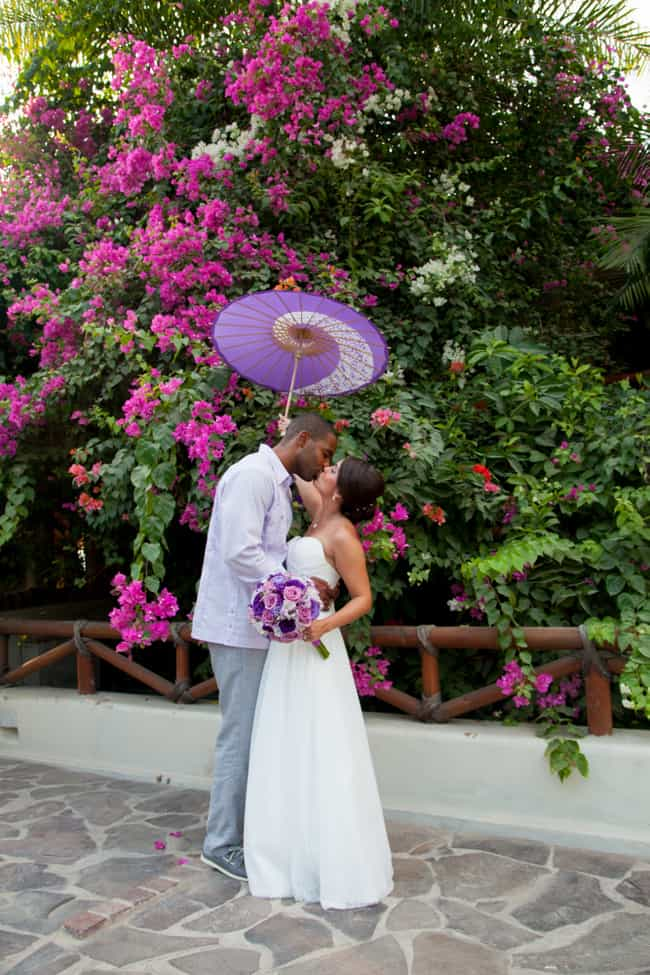Purple and lavender destination wedding in Puerto Vallarta