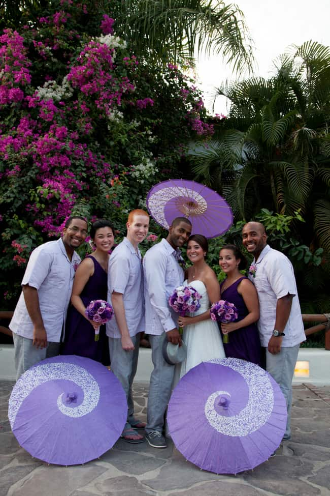 Purple and lavender Puerto Vallarta wedding