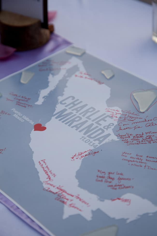 Destination Wedding Map guestbook