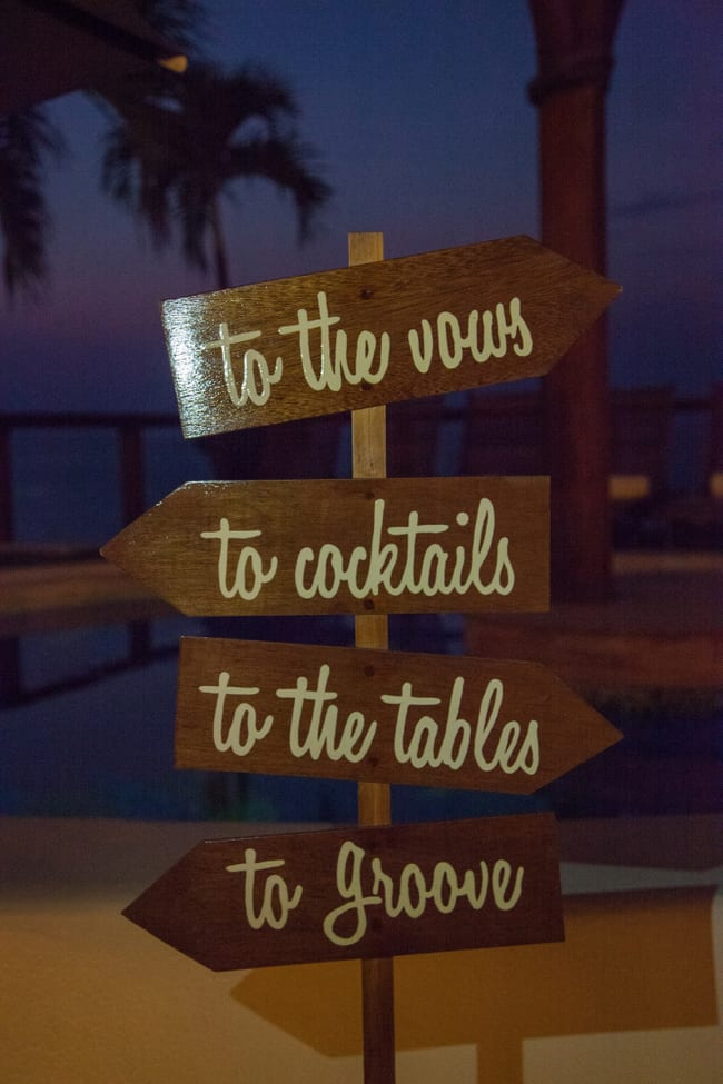 destination wedding sign