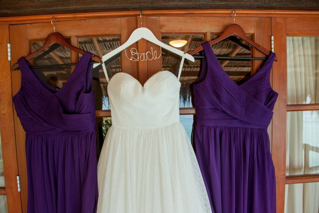 Eggplant color beach bridesmaid dresses