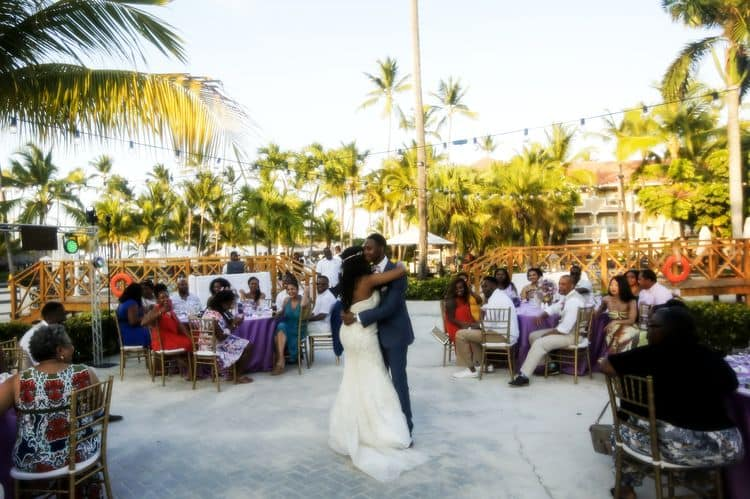 purple and gold destination wedding in Punta Cana 13