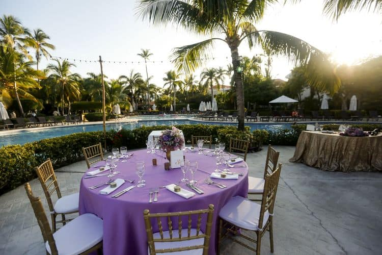 purple and gold destination wedding in Punta Cana 15