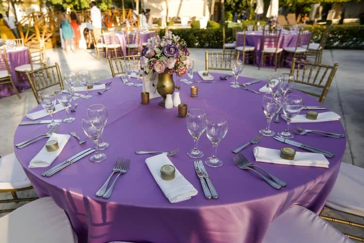purple and gold destination wedding in Punta Cana 16