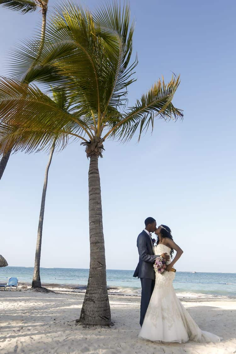 purple and gold destination wedding in Punta Cana 30