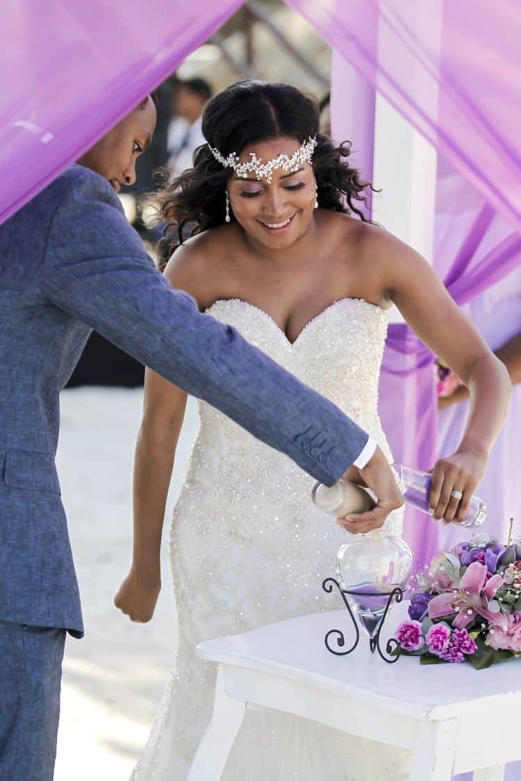 purple and gold destination wedding in Punta Cana 45
