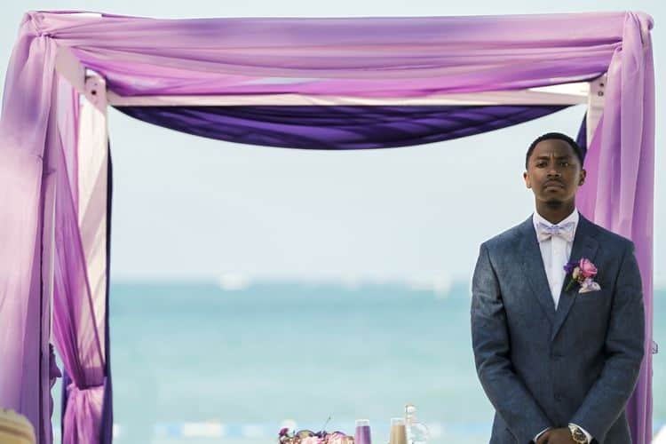 purple and gold destination wedding in Punta Cana 53
