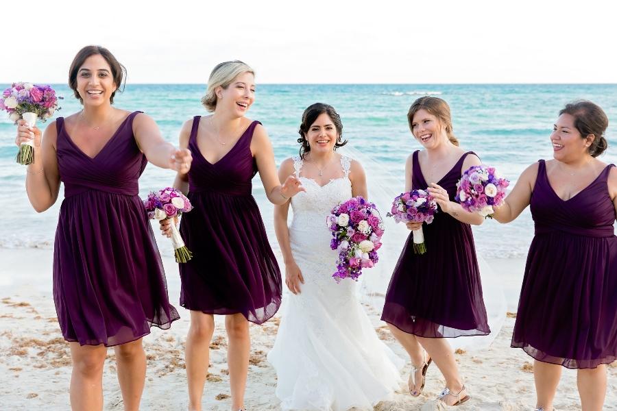 purple beach bridesmaid dress 1