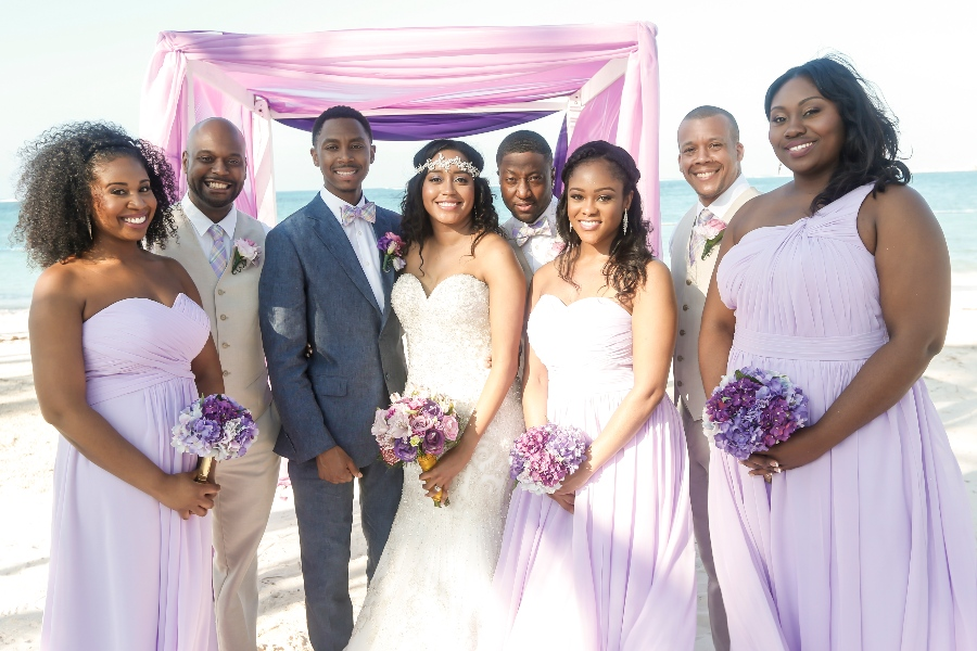 purple beach bridesmaid dress