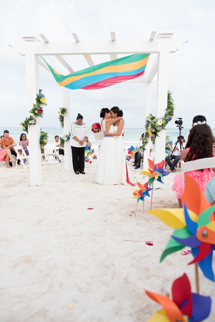 rainbow wedding 34