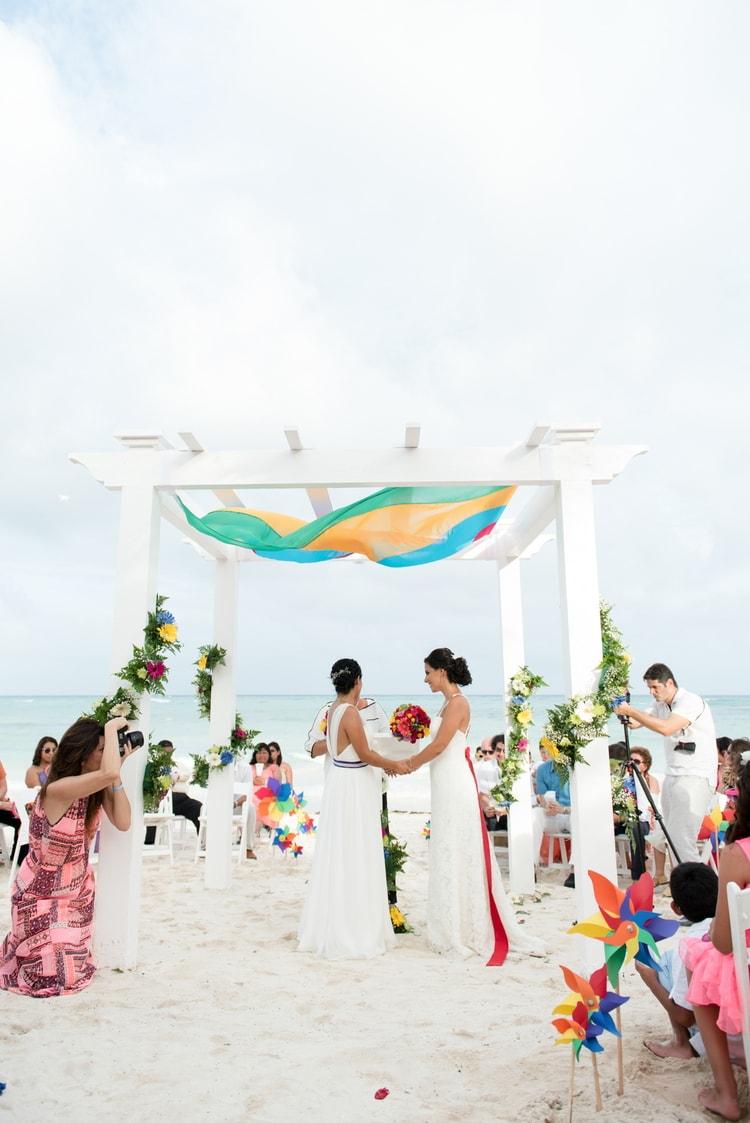 rainbow wedding 37