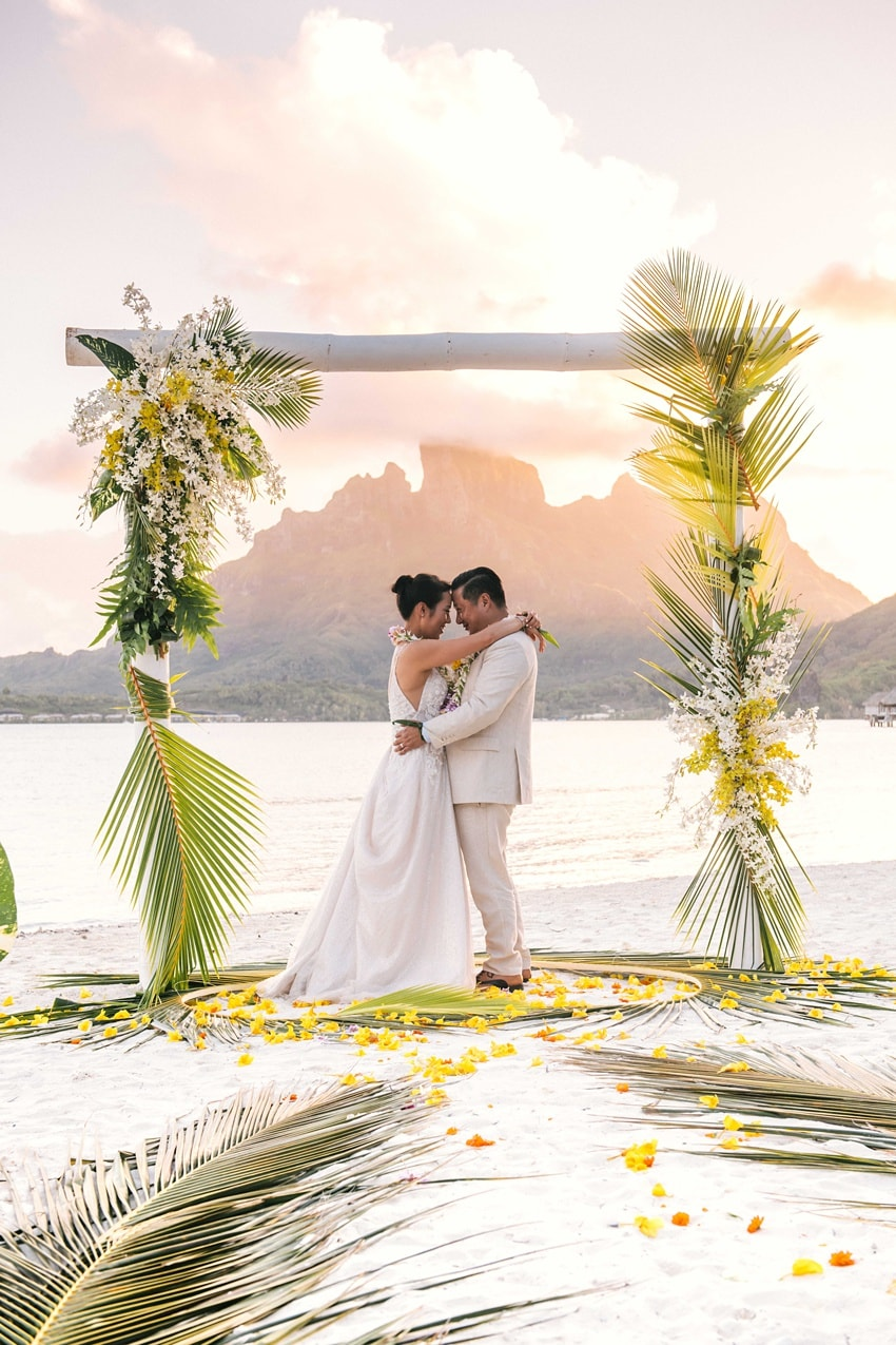real Bora Bora destination wedding 0103