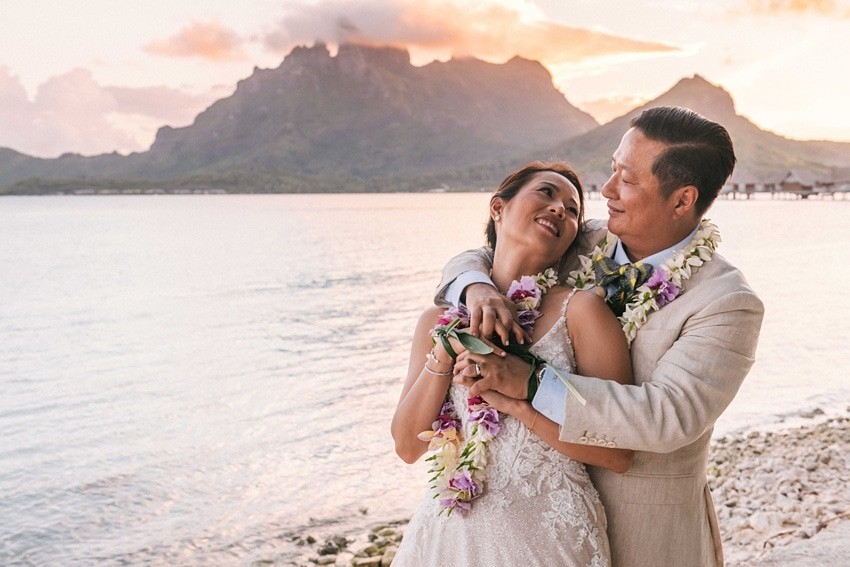 real Bora Bora destination wedding 0108