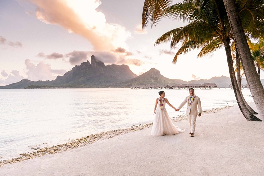 real Bora Bora destination wedding 0110