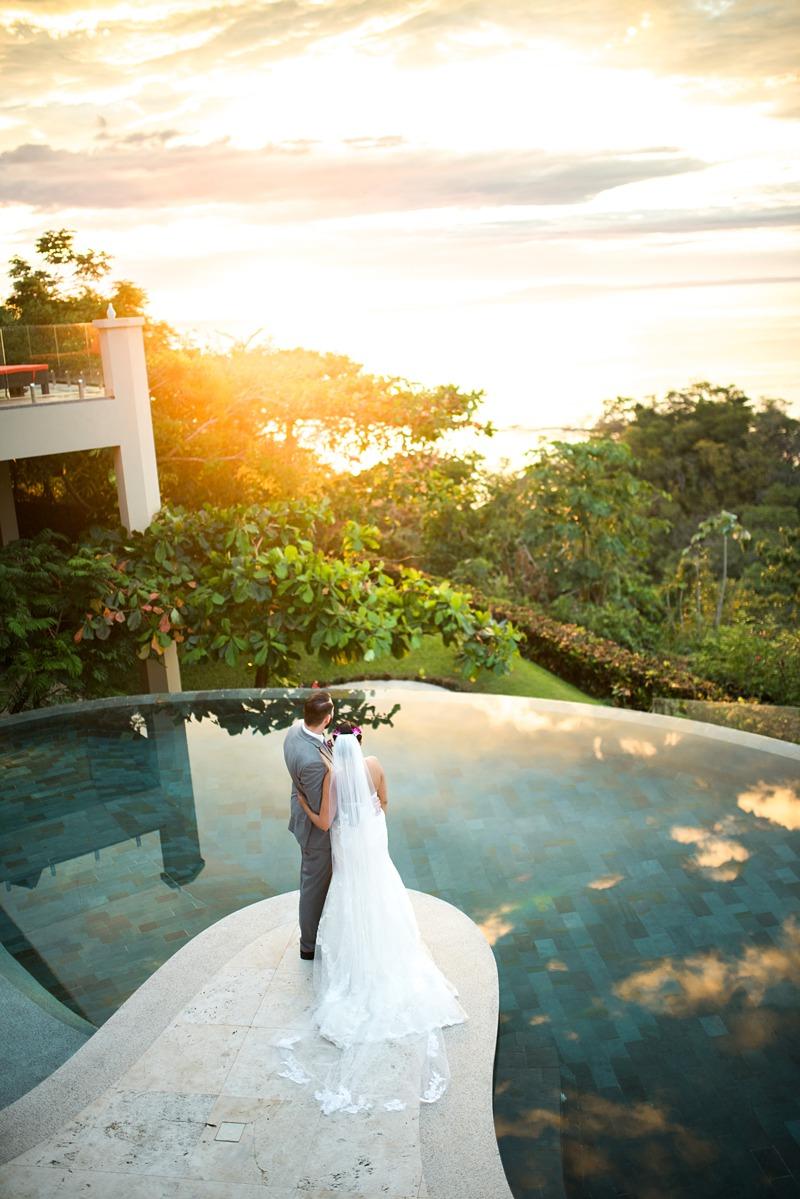 real destination wedding Costa Rica Faro Azul