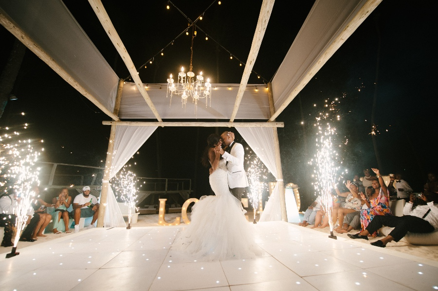 real dominican republic wedding at Jellyfish Restaurant