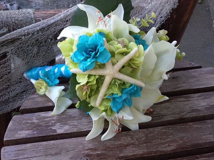 real touch beach wedding bouquets