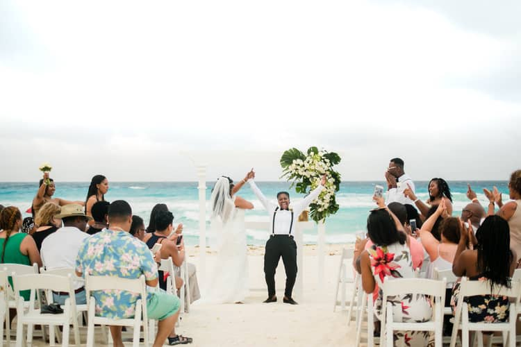 same sex destination wedding in cancun 94
