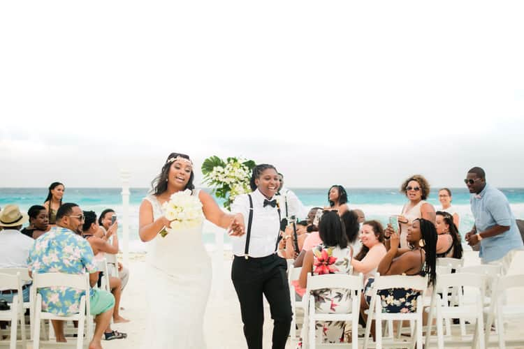 same sex destination wedding in cancun 96