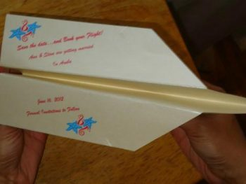 Save The Date: Destination Weddings Paper Plane Template
