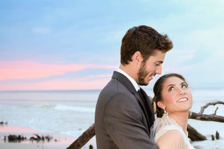 sunrise beach elopement in south carolina
