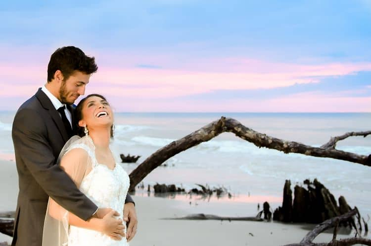 Styled Sunrise Beach Elopement In South