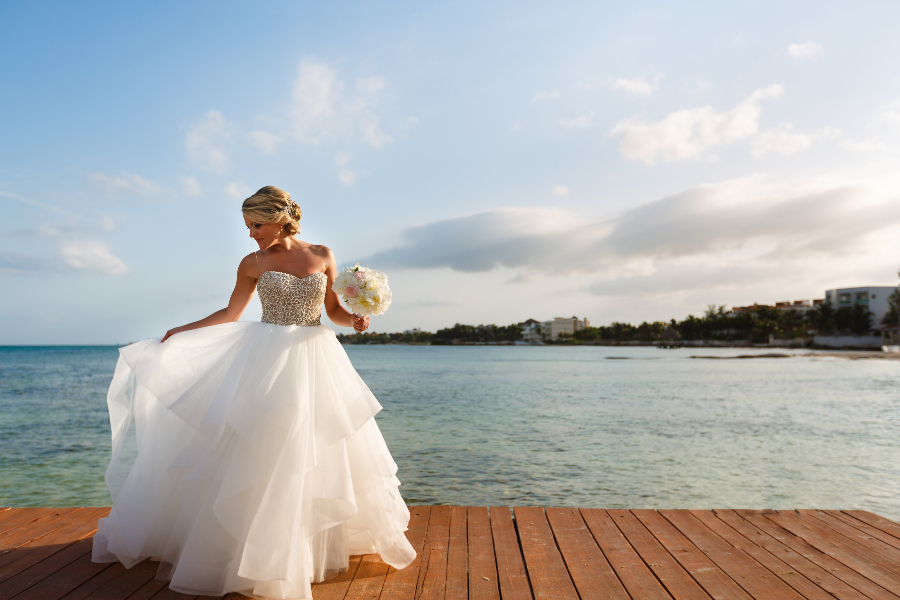 strapless destination wedding dresses