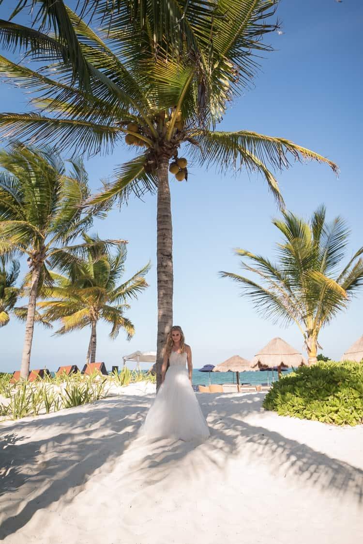 sunset beach wedding at banyan tree mayakoba 111