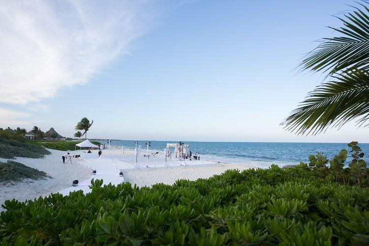 sunset beach wedding at banyan tree mayakoba 133