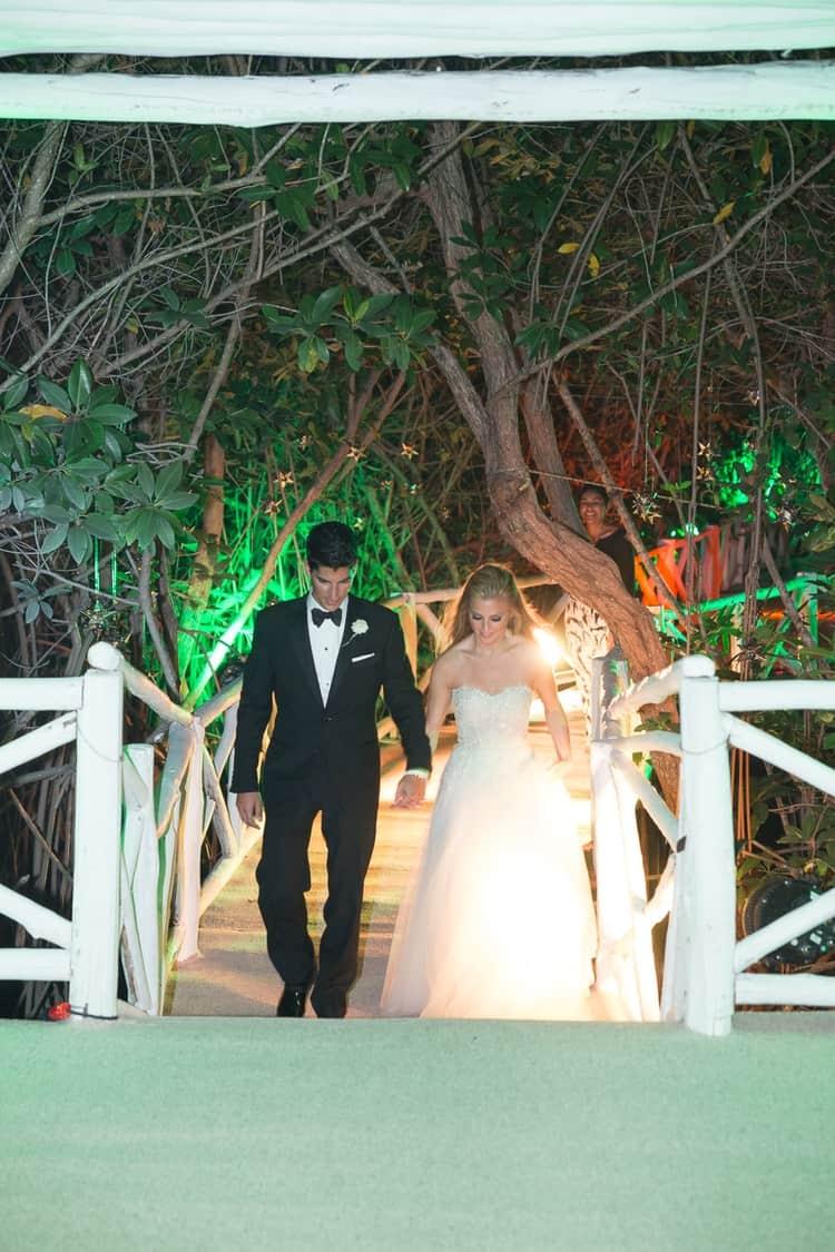 sunset beach wedding at banyan tree mayakoba 46