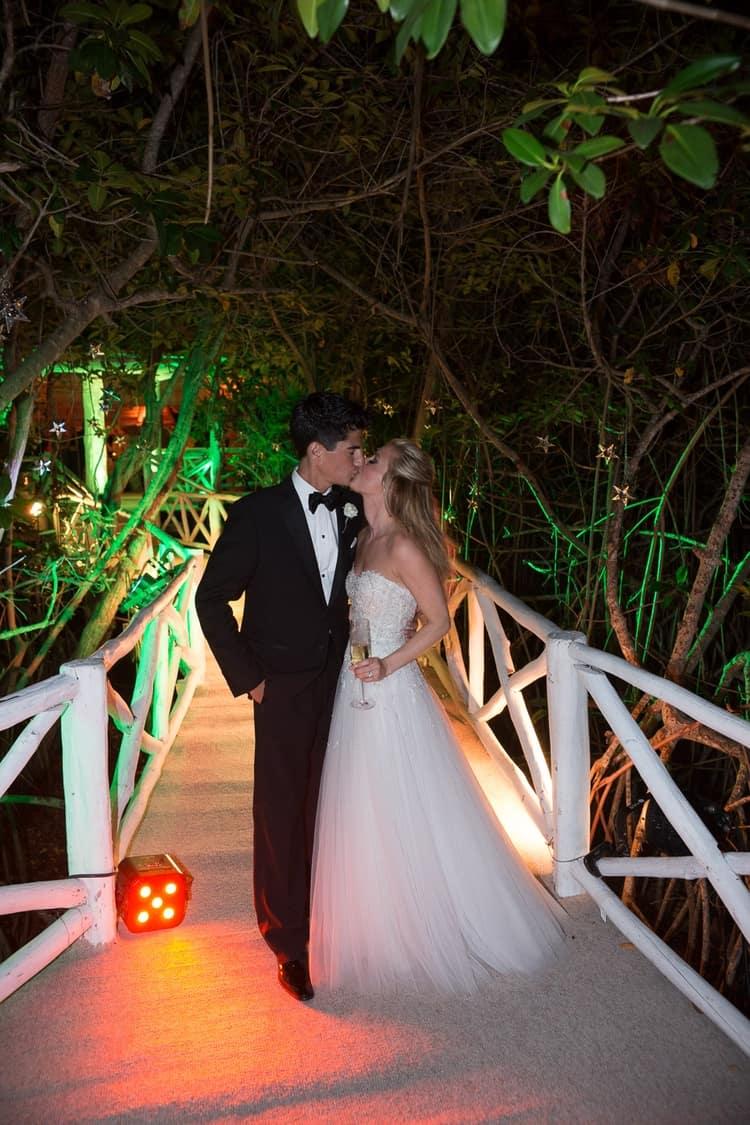 sunset beach wedding at banyan tree mayakoba 48