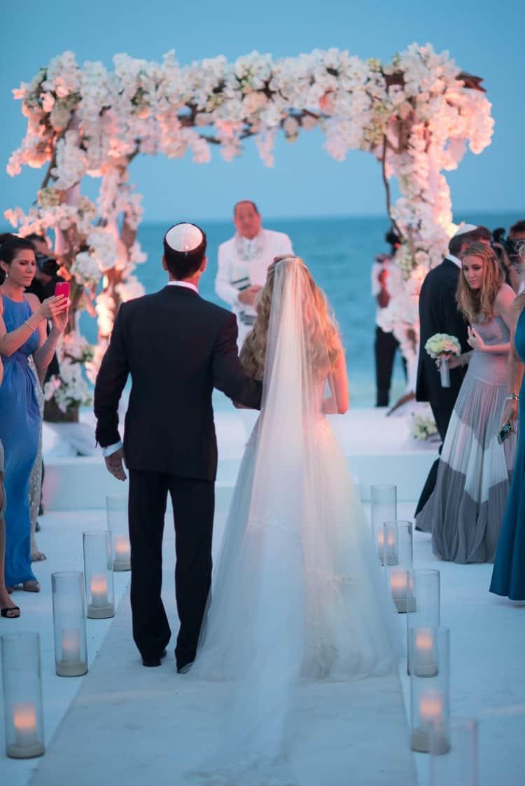 Sunset Beach Wedding at the Banyan Tree Mayakoba | Destination ...