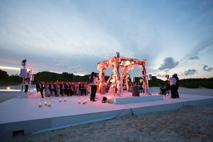 sunset beach wedding at banyan tree mayakoba 68