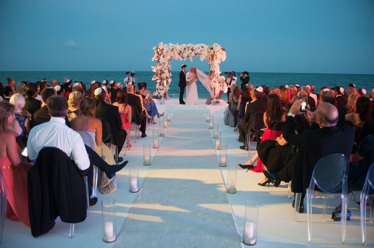 sunset beach wedding at banyan tree mayakoba 70