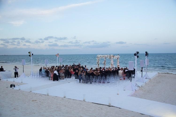 sunset beach wedding at banyan tree mayakoba 78