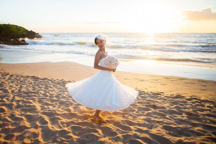 tea length destination wedding dresses