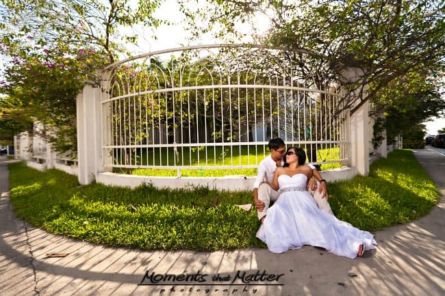 trash the wedding dress photos